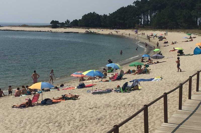 Las playas marítimas y fluviales del Ayuntamiento de A Guarda demuestran un estado de alta ocupación en lo que va del mes de agosto, elegidas por miles de bañistas que día a día visitan estos espacios naturales.