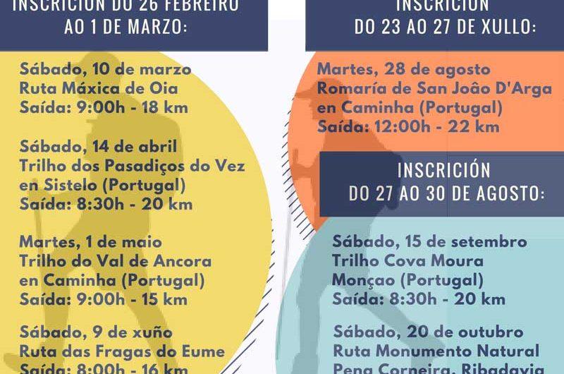Continúan las rutas organizadas por la Cámara Municipal de Caminha y el Ayuntamiento de A Guarda y que tendrán lugar entre los meses de septiembre y noviembre con el objectivo de conocer el paisaje y el patrimonio de la comunidad gallega y del país vecino.