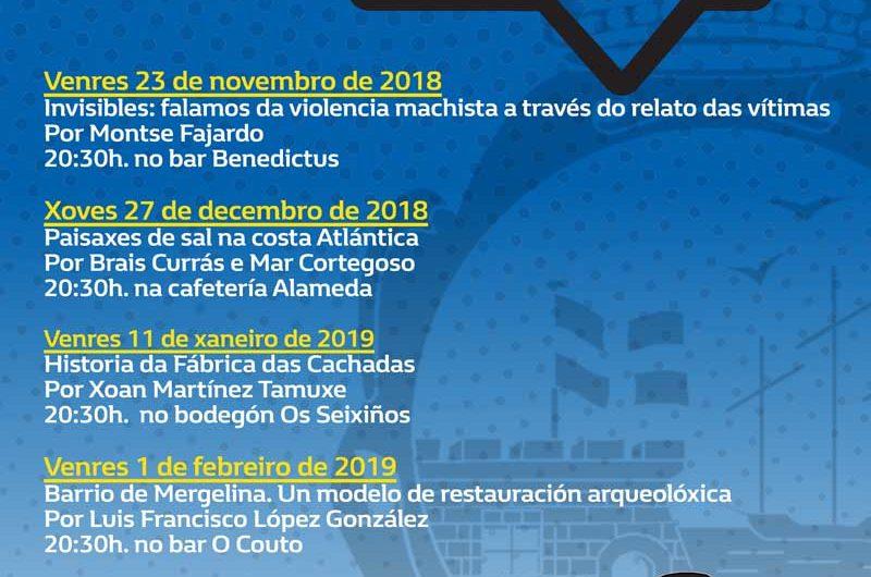 Este viernes día 15 de marzo de 2019 tendrá lugar la quinta y última Barferencia del año en A Guarda, en concreto se hablará sobre «Castillo de Santa Cruz: 350 años del fin de la Guerra de Restauración en A Guarda» a cargo de Rebeca Blanco Rotea.