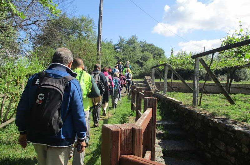 A PR-G171 Ruta Da Pedra e da Auga e do Río San Martiño, transcorre polo concello de Meis, onde os participantes percorreron un total de 20km de distancia comezando e rematando a ruta no mosteiro cisterciense de Armenteira.